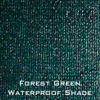 forest green waterproof shade
